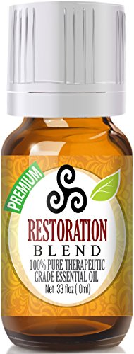 Restoration Blend 100% Pure, Best Therapeutic Grade Essential Oil - 10ml - Anise Star, Caraway, Fennel, Ginger, Peppermint - Comparable to DoTerra's DigestZen & Young Living's Di-Gize Blend