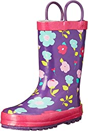 Western Chief Kids Lovely Floral Rain Boot(Toddler/Little Kid/Big Kid), Purple, 9 M US Toddler