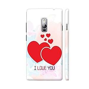 Colorpur I Love You Red Hearts Artwork On OnePlus 2 Cover (Designer Mobile Back Case) | Artist: Designer Chennai