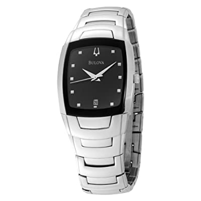 Bulova Men's 96G46 Stainless Steel Watch with Link Bracelet