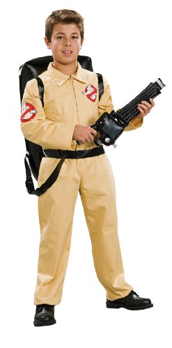 Ghostbuster Deluxe Child's Costume with Blow Up Proton Pack - S, M or L