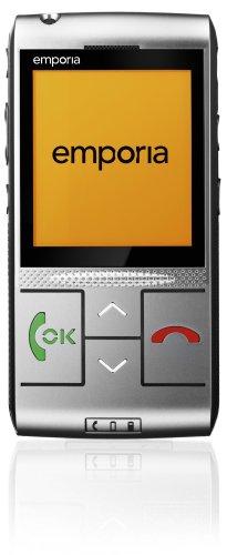 Emporia LIFE plus Handy (Seniorenhandy, Hörgeräte tauglich, mit Notruf-Funktion) silber