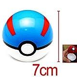 SDAS Pokemon Poke Ball Pokeball Mini Model Classic Anime Pikachu Super Master Pokemon Ball Action Figures Toys 7cm