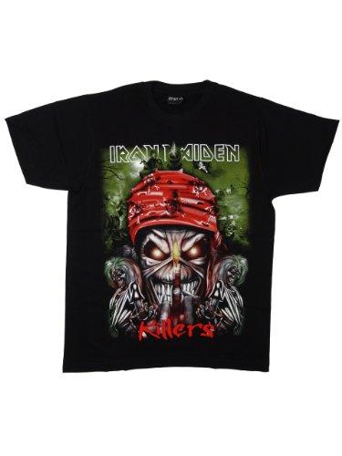 ロックTシャツ Iron Maiden アイアン メイデン KILLERS Mサイズ ブラック REO-032M