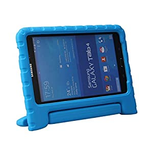 Samsung Galaxy Tab 4 8.0 Case - BMOUO EVA Light Weight ShockProof Kids Case Super Protection Cover Handle Stand Case for Kids Children for Samsung Galaxy Tab4 8-inch Tablet - Blue Color