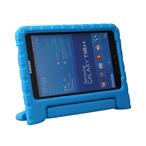 Samsung Galaxy Tab 4 8.0 Case - BMOUO EVA Light Weight ShockProof Kids Case Super Protection Cover Handle Stand Case for Kids Children for Samsung Galaxy Tab4 8-inch Tablet - Blue Color at Electronic-Readers.com