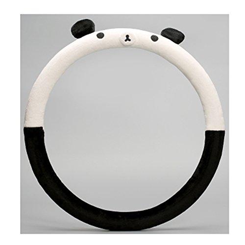 Cute Winter Advanced Panda Car Steering Wheel Cover Wrap Car Interior Trim (Steering Wheel Car Alarm compare prices)