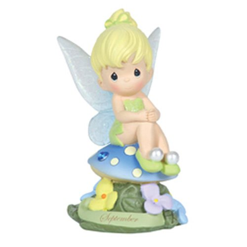 Precious Moments Disney Show Case Collection Collectible Figurine, September Fairy As Tinker Bell, Sapphire