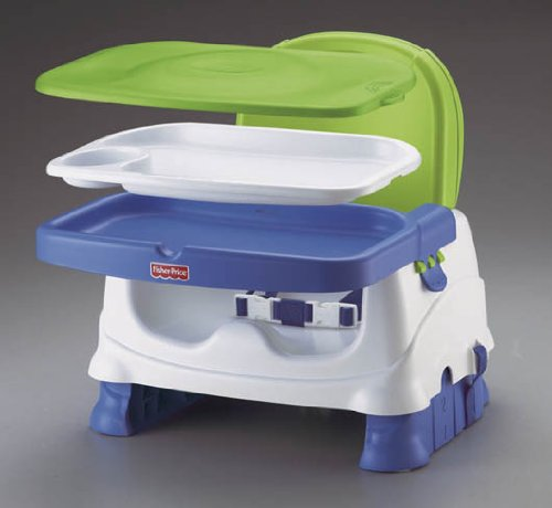 Fisher Price Healthy Care Deluxe Booster Seat Blue Green