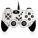 Dual Shock Wired USB Gamepad Controller For PC With Gripped Joysticks Ergonomic Design Vibration Force Feedback... - B00S8798QE