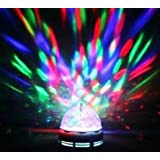 Lightahead® Rotating Strobe LED Crystal stage light for Disco party club bar DJ .ball Bulb Multi changing Color