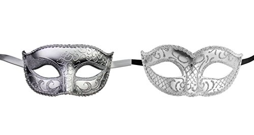 Luxury Mask His and Hers Venetian Masquerade Mask Couple's Set