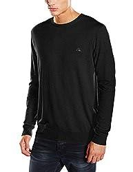 Quiksilver Men's Cotton Sweater (3613370726912_EQYSW03070_S_Dark Charcoal)