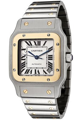 Cartier Men's W20099C4 Santos Galbee XL Automatic Stainless Steel and 18K Gold Watch