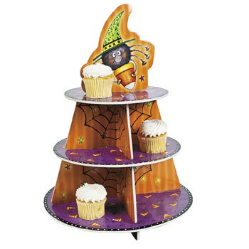 Candy Corn Spider Cupcake Holder - Halloween Party Supplies & Decorations & Party Favor & Goody Bags