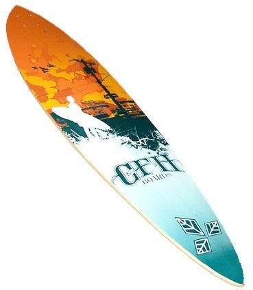 GFH Mission Orange Sky Longboard Deck 41.75