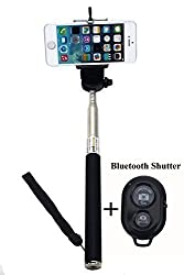 CaseJunction SS-01-BK Selfie Stick + Bluetooth Shutter Remote Telescopic Monopod For All Smart Phones