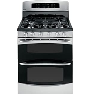 GE PGB995SETSS Profile 30 Stainless Steel Gas Sealed Burner Double Oven