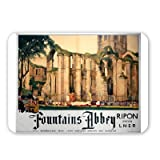 Fountains abbey, Ripon - Mouse Mat - Highest Quality Natural Rubber