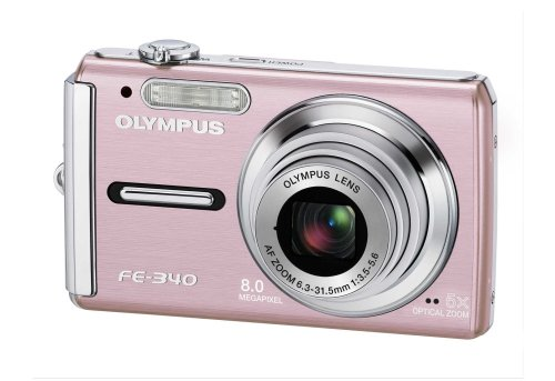 "Olympus FE-340 Digital Camera - Pink (8.0MP, 5x Optical Zoom) 2.7"" LCD"