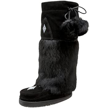 Cozy up in this Tall Mukluk boot from Manitobah Mukluks. Handcrafted by Native Canadians, this boot features a soft suede upper with beautiful bead work and luxurious rabbit fur. The sheepskin lined footbed and fleece lining throughout offer the ulti...