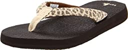 Sanuk Women\'s Yoga Wildlife Flip Flop Sandal,Cheetah,8 M US