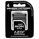 King Of Shaves Replacement Blades for Azor Razor - 4 Pack