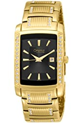 Caravelle by Bulova Men's 44B001 Crystal WatchBlack Dial Watch