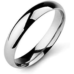 MunkiMix Larghezza 4mm Acciaio Inossidabile Banda Anello Anelli Argento Matrimonio Dimensioni 12 Uomo,Donna