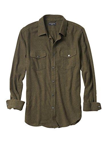 banana-republic-mens-standard-fit-military-snap-button-down-long-sleeve-flannel-shirt-jacket-medium-