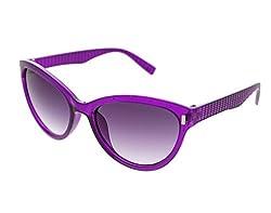 Vast UV Protection Cat Eye Womens Sunglasses (3075PURP|56|Grey Lens )