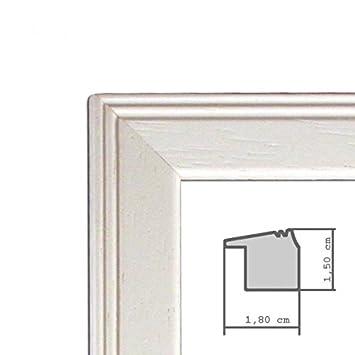 3er set landhaus bilderrahmen 10x15 cm weiss massivholz m glasscheibe inkl zubeh r zum. Black Bedroom Furniture Sets. Home Design Ideas