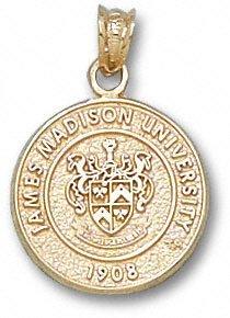 James Madison Dukes 10K Gold Seal Pendant