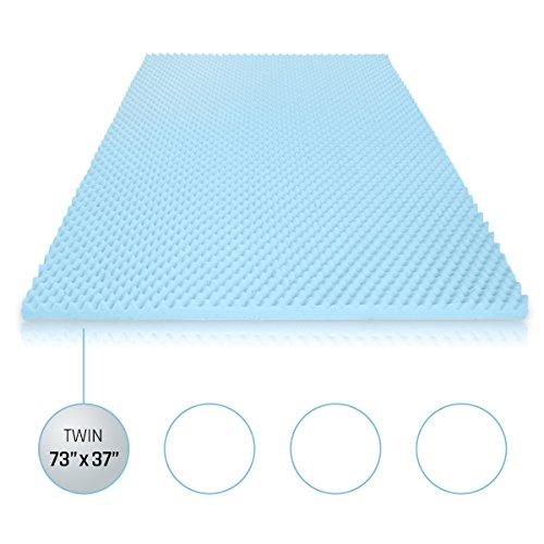 Memory Foam Mattress Topper Twin, Use As a Gel Infusion Helps Disperse Body Heat