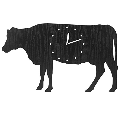 Wooden Wall Clock - The Cow
