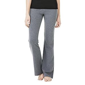 Bella Cotton Spandex Fitness Yoga Pant - Deep Heather 810 L