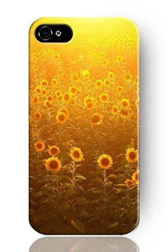 Sprawl New Fashion Design Hard Skin Case Cover Shell For Mobile Phone Apple Iphone 4 4S 4G--Golden Shine Sunflower Ocean front-48667