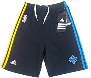 adidas New Orleans Hornets Youth Black Pre-Game Performance Shorts (Small) at Sears.com