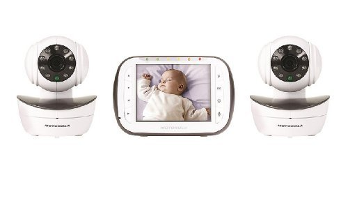 motorola wireless digital video baby monitor with 2 cameras 3 5 inch color v. Black Bedroom Furniture Sets. Home Design Ideas