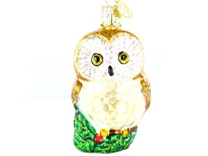 "Old World Christmas Christmas Owl, 3"" Glass Ornament"