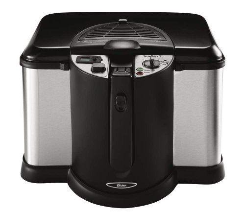 New Oster CKSTDFZM70 4-Liter Cool Touch Deep Fryer, Black and Stainless Steel