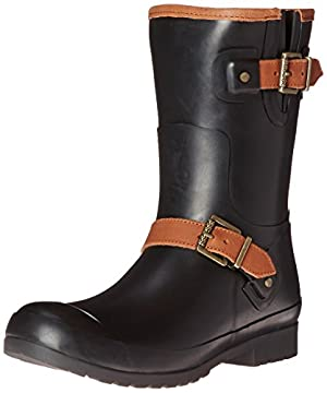 Sperry Top-Sider Women's Walker Fog BLK Rain Boot, Black, 9 M US