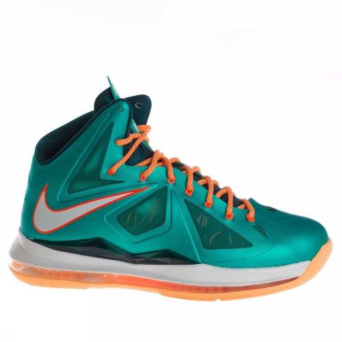 Nike Lebron X (Miami Setting/Dolphins) Atomic teal/Atomic Teal-Orange (10.5) (Nike Slides Orange And Black compare prices)