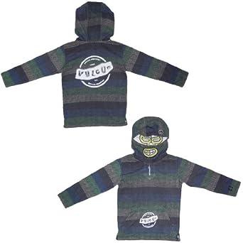 Volcom Boys Fear Mask Pullover Hoodie Sweatshirt L/6 Multicolor