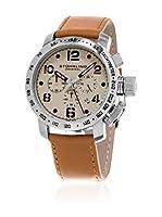 Stuhrling Original Reloj de cuarzo Man Aviator 641 Sport Marrón Claro 45.0 mm