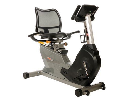 Lifecore Fitness Space Saving Self Powered Recumbent Bike with Adjustable Mesh Seat Back