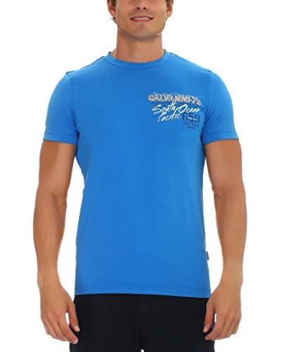 GALVANNI Camiseta Manga Corta Departure Azul