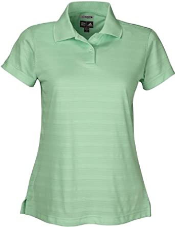 Adidas Golf A62 ClimaCool Ladies Mesh Solid Textured Polo - Midori - Large