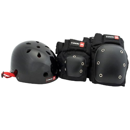Tony Hawk 3-in-1 Helmet & Pad Protective Combo by Bravo Sports - Adult