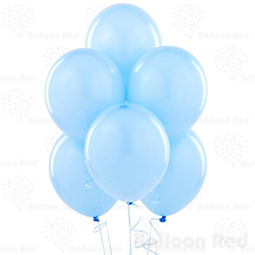 12 Inch Pearlized Latex Balloons (Premium Helium Quality), Pack of 100, Pearl Pastel Blue (Light Blue Water Pearls compare prices)